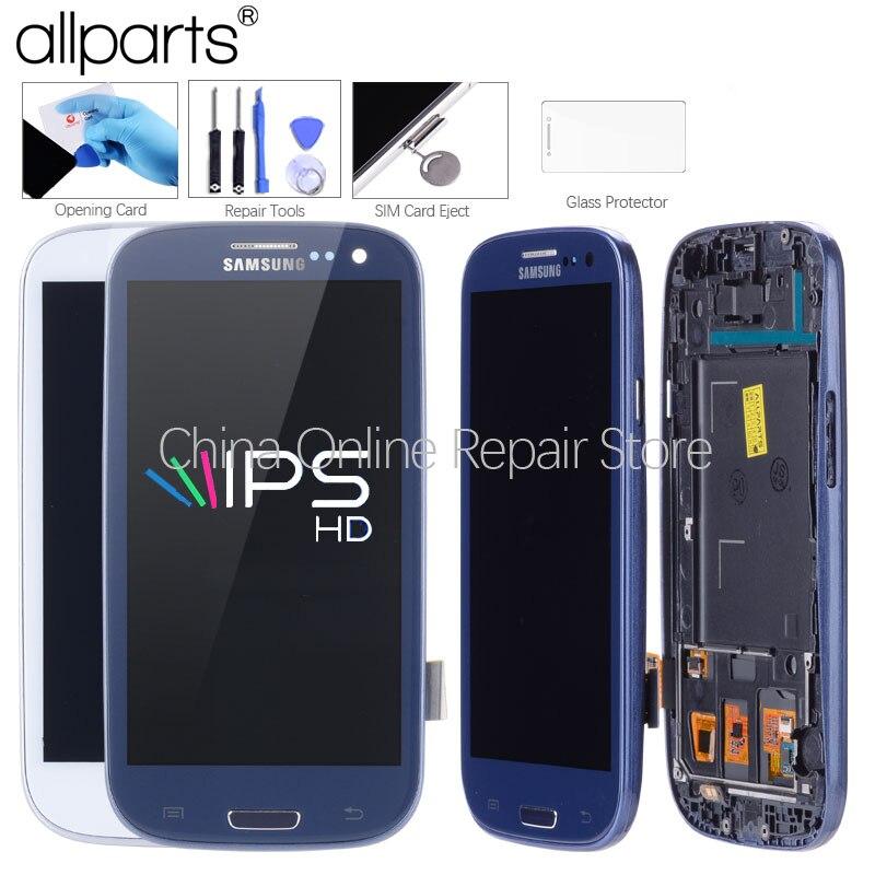 AA i9300i i9300 Display Für SAMSUNG Galaxy S3 LCD Screen Montage mit Rahmen Ersatz Für SAMSUNG Galaxy S3 Display i9300 LCD