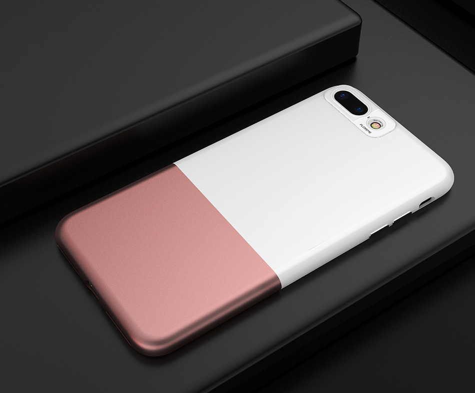 FLOVEME Fashion Contrast Hybrid Phone Cases For iPhone 6 7 6S Plus Higher Camera Protection Hard Hit Color Cover For iPhone 6 7 (16)