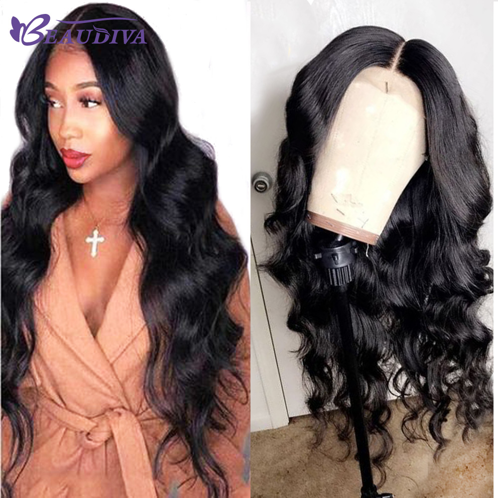 Beaudiva Lace Front Human Hair Wigs With Baby Hair Pre Plucked Brazilian Body Wave 360 Lace