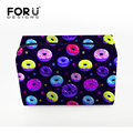 Sweety Style Women Cosmetic Cases for Make up 3D Print Donuts Lady Travel Makeup Bags Portable Organizer Storage Toiletry Bag