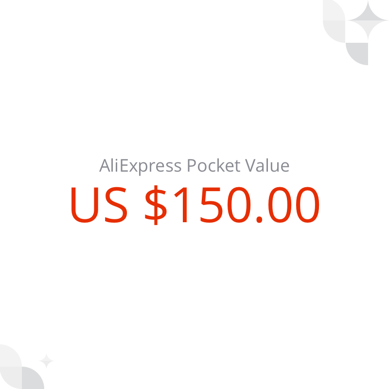 US $ 150 AliExpress Pocket