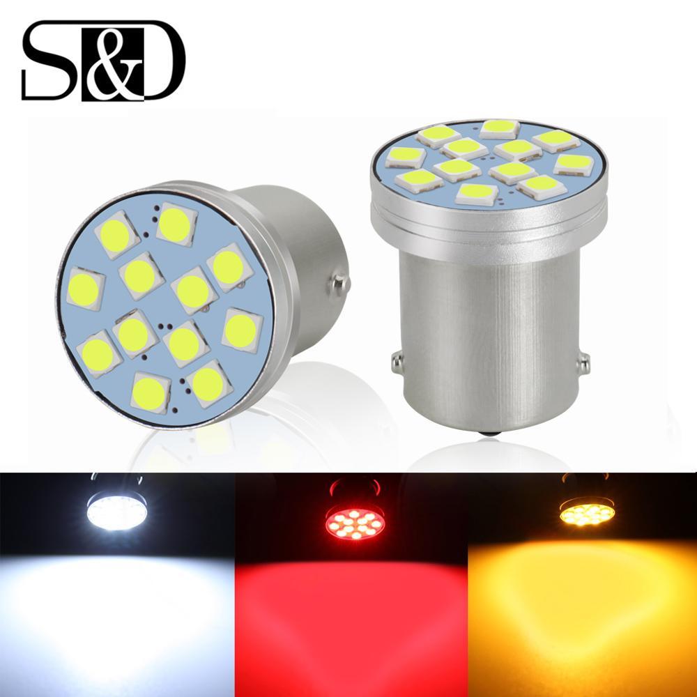 2x 1156 BA15S R5W P21W LED PY21W BAU15S 1157 BAY15D P21/5W BA15D автомобиля светодиодные лампы Включите стоп-сигнал Фары заднего хода авто лампы 12 V