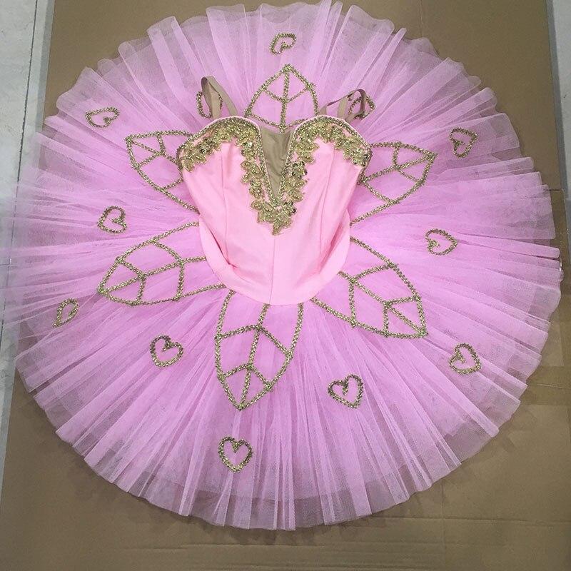 Dance Favourite New Arrival Pink Ballet Tutu! Pre-professional Ballet Tutu Dance Costume Performance Stage Ballerina Tutu