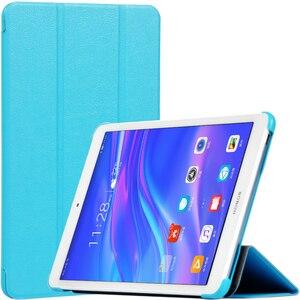 Ультратонкий чехол-книжка из искусственной кожи для Huawei Mediapad M5 Lite 8,0 MON-AL19B CPN-AL0/Honor Tablet 5 8,0 T5 8 дюймов