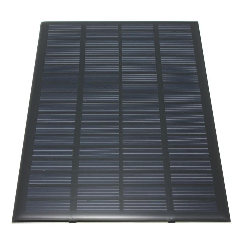 18V 2.5W Polycrystalline Stored Energy Power Solar Panel Module System Solar Cells Charger 19.4x12x0.3cm