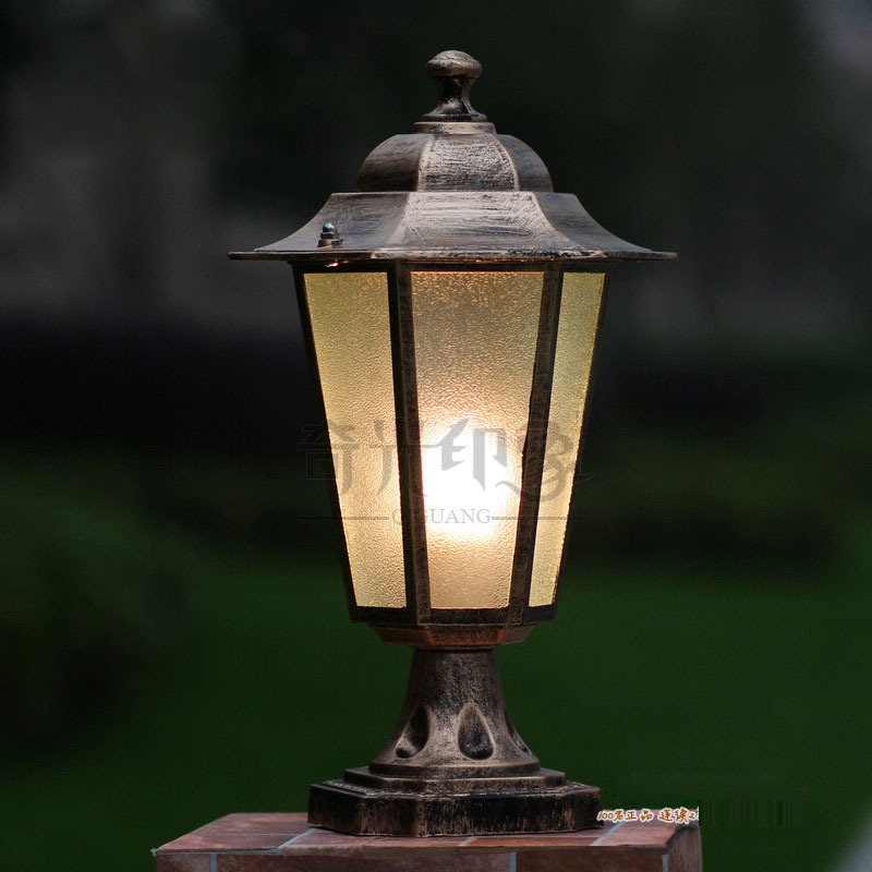 Vintage Hexagonal Outdoor lanterns Lights courtyard Corridor Lighting Porch Balcony portal villa post lamp waterproof  Path Lamp full copper lamps and lanterns of american meals hanging lamp act the role ofing porch corridor lamp