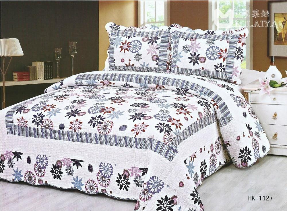 The new three-piece cotton reactive printing bedding Quilts BeddingThe new three-piece cotton reactive printing bedding Quilts Bedding