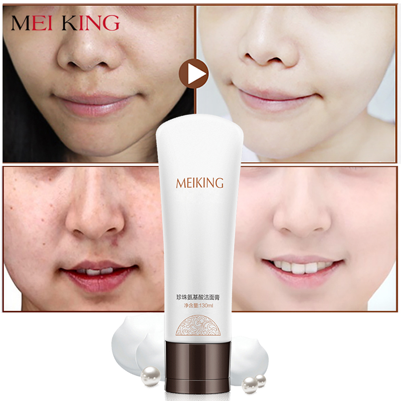 MEIKING Face Cleanser Facial Scrub Cleansing Acne Treatment Blackhead Remover Pimples Pores Amino Acid Extract Skin Washing Care 4 in 1 electric facial cleanser deep cleansing skin care blackhead removal washing brush massager face body exfoliator scrub
