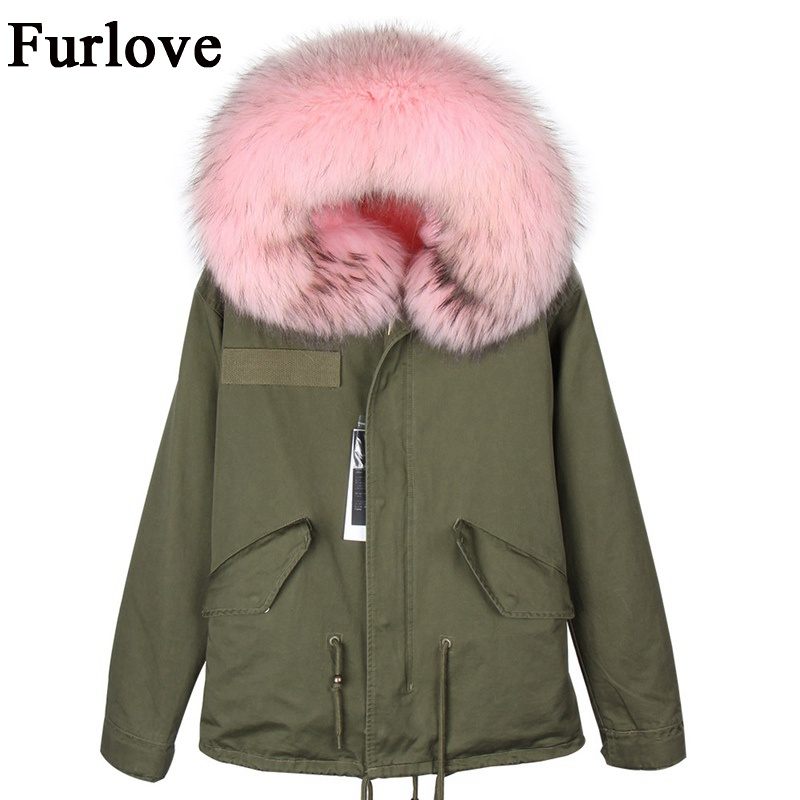 New Winter Jacket Women Parkas Womens Jackets Natural Raccoon Fur Collar Coat Hooded Thick Warm Parka Real Fox Fur Lining Coats woman winter jacket fur natural fox fur genuine leather jacket long winter coat sleeve three quarter thick womens down jackets