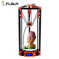 FLSUN Delta 3D Printer DIY KIT Pulley Kossel Auto leveling Heat bed Filament Printing Size 180*180*315mm Novice Player