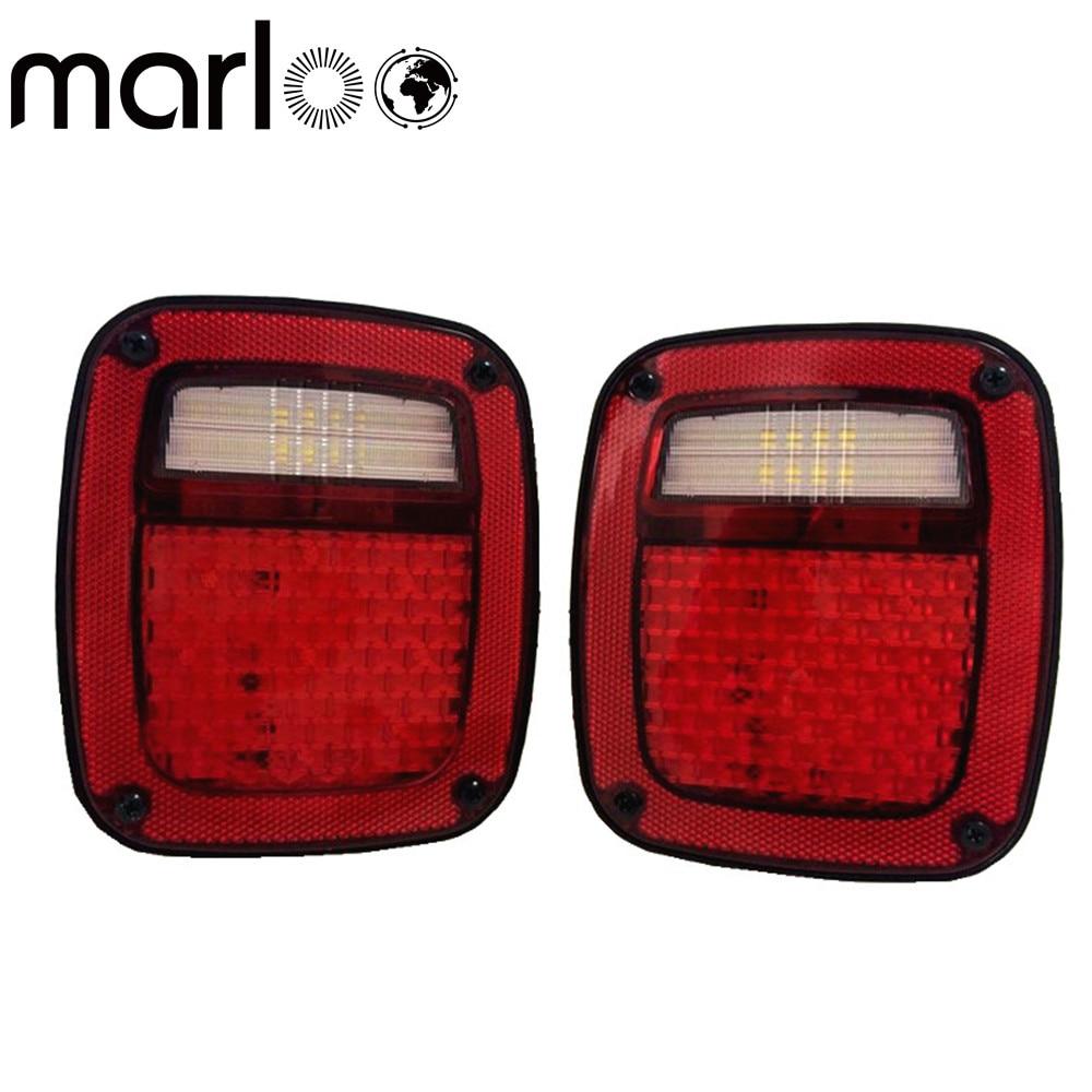 Led Rear Light Stop Tail Reverse Running Brake License For Jeep Wrangler Tj Lights Marloo 76 86 Cj7 81 Cj8 87 95