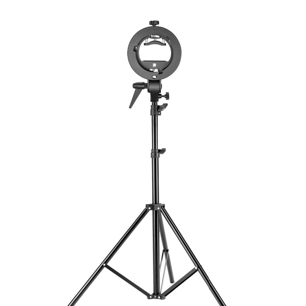 Neewer Studio photographie s-type support de support Speedlite avec support Bowens et support de lumière réglable de 75 pouces/190 cm