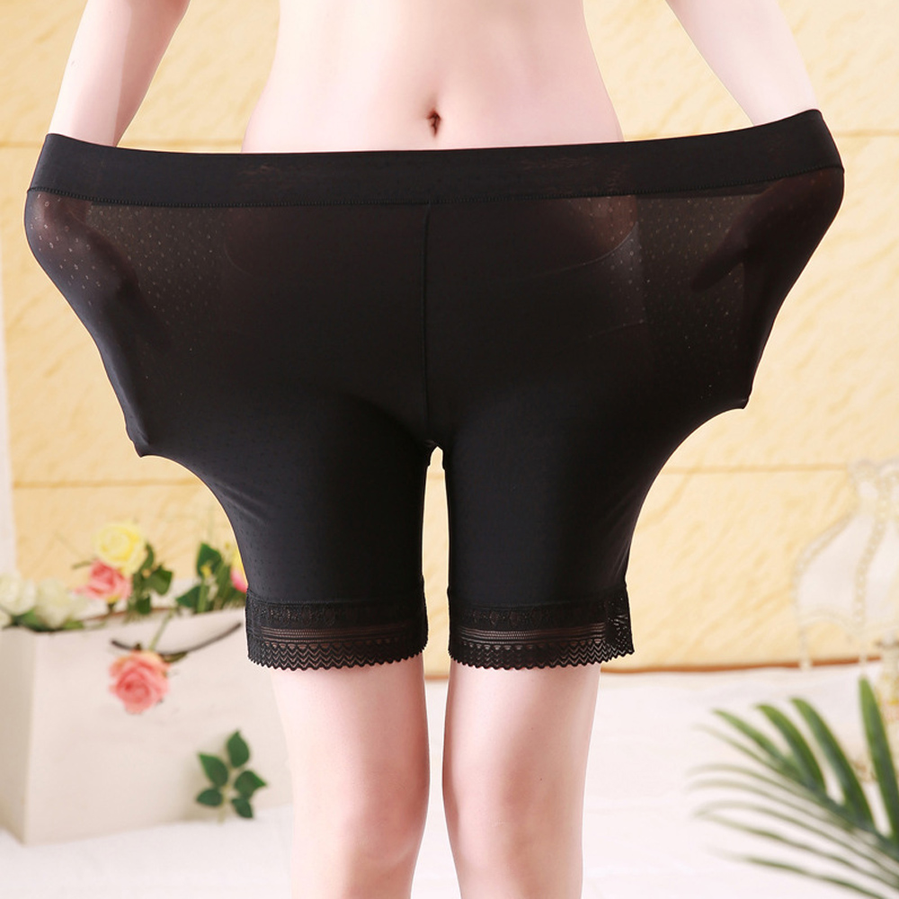 Women 39 s Safety Short Pants Ice Silk Brief Long Boxer Briefs Breathable Underwear Pants Plus Size in Safety Short Pants from Underwear amp Sleepwears