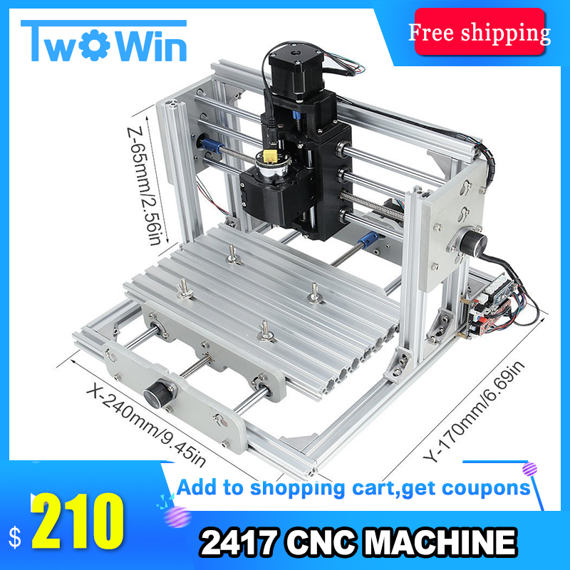 CNC 2417 DIY CNC Engraving Machine 3axis Mini Pcb Pvc Milling Machine Metal Wood Carving Machine