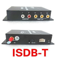 Car one seg Receiver for USB ISDB-T Brazil Digital TV receiver Android ISDB T Digital car Tuner four way Single Antenna M-288X