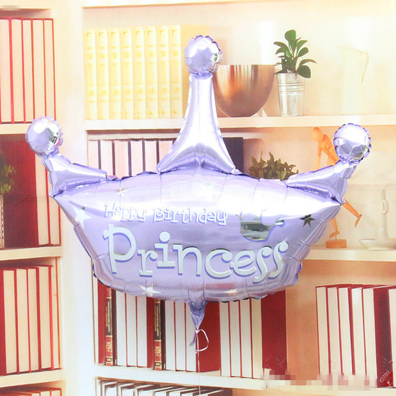 New style anagraml 36inch Duotone Crown princess happy birthday balloon Decorate birthday party  birthday gift children's toys