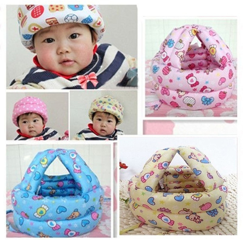 Baby Protective Helmet Boy Girls Anti collision Safety Helmet Infant Toddler security Protection Soft Hat for Walking Kids cap in Hats Caps from Mother Kids