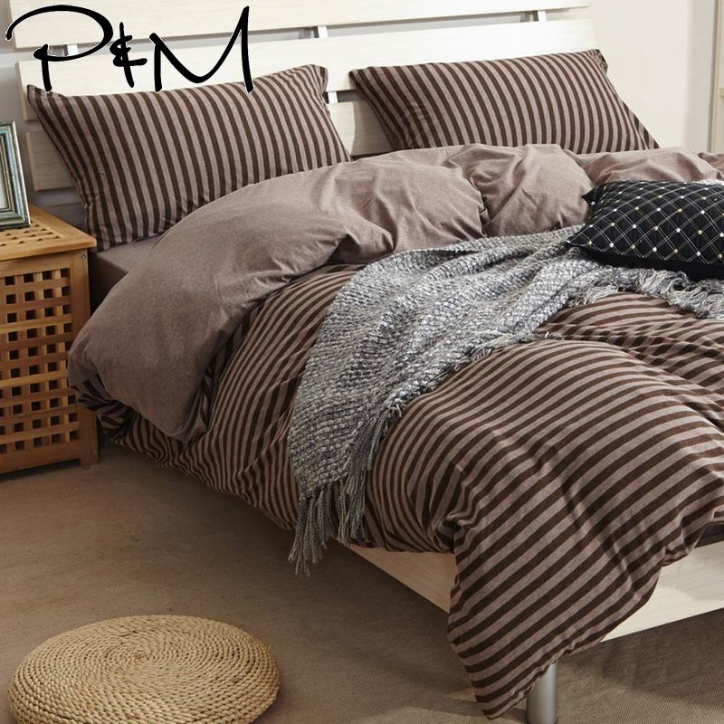 Home Textile Papa&mima Knitted Cotton Bedlinen Soft Warm Bedding Set Single Double Size Bedding