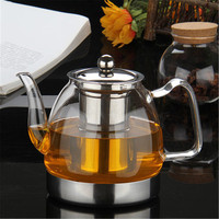 Thicken Glass Teapot with 304 Stainless Steel Infuser Strainer Heat Resistant Loose Leaf Tea Pot Tool Kettle Set 800/1200ml|Teapots| |  -