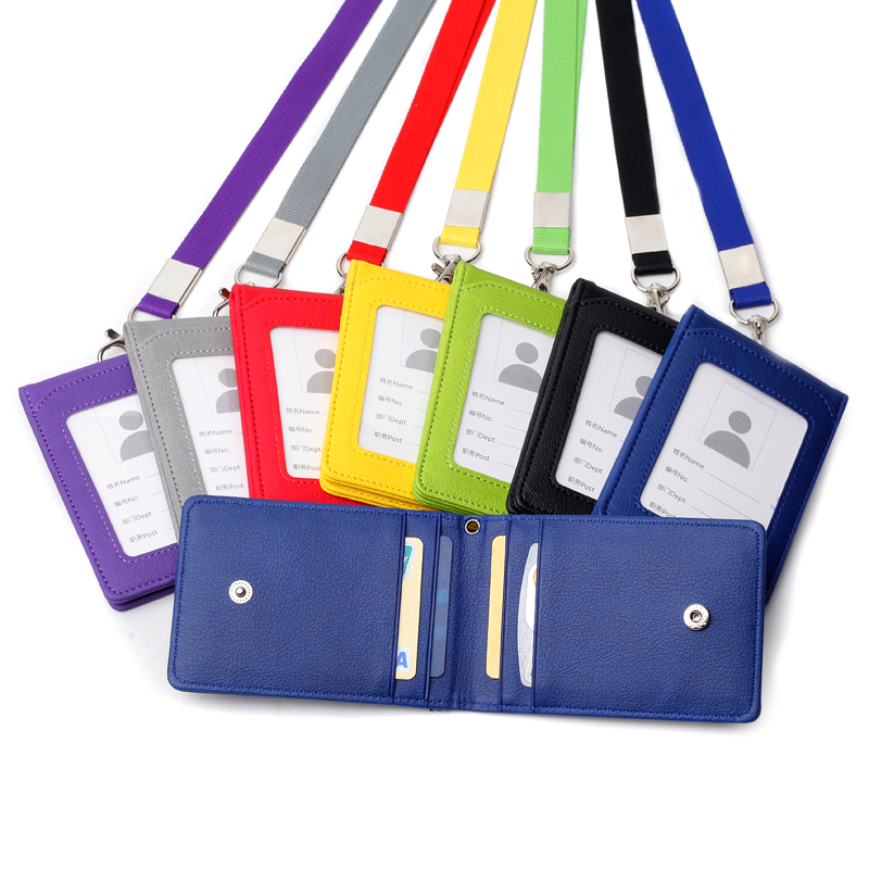 1pc Card Holder Neck Strap with Lanyard Badge Holder Staff Identification Card Bus ID Holders Kawaii Stationary Card Holder writing