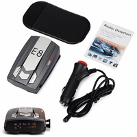E8 Car Radar Detector Anti Police LED GPS Radar Laser Speed Detector With 16 B And