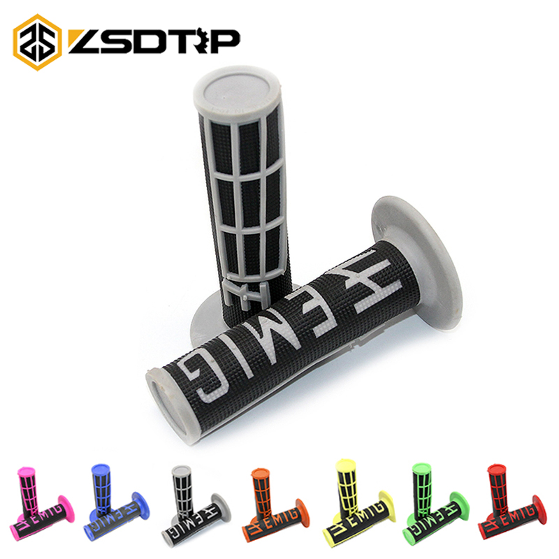 ZSDTRP Universel 22mm Handle MX Grip For Dirt Pit Bike KTM Motocross Motorcycle Handlebar Grips EMIG Hand Grips