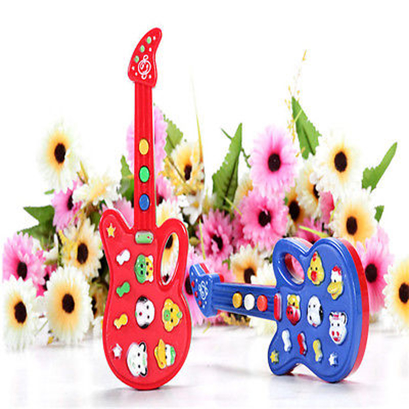 Baby Kids Cute Electronic Guitar Rhyme Developmental Music Sound Toy Children's Gift Musical Instrument Toy 2016