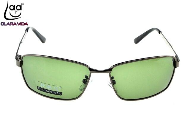 =CLARAVIDA=2017 LARGE  FULL RIM GREY TAC Enhanced Polarization polarized square green lenses driving fishing sunglasses