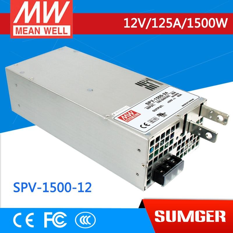 все цены на 1MEAN WELL original SPV-1500-12 12V 125A meanwell SPV-1500 12V 1500W Single Output Power Supply онлайн