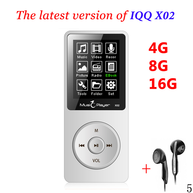 Mini usb MP3 Player With Built-in Speaker hifi speaker mp 3 player 16gb mp 4 Player 16gb with radio IQQ X02 walkman mp3-player