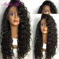 Silk Top Curly Wig Brazilian Virgin Hair Glueless Silk Top Lace Front Wig 150% Density Silk Base Full Lace Human Hair Wigs Cheap