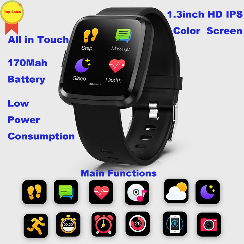 factory original smart watch Blood Pressure dynamic Heart Rate Monitor watch Sport Band information push Smart watch all touch in Smart Watches from Consumer Electronics