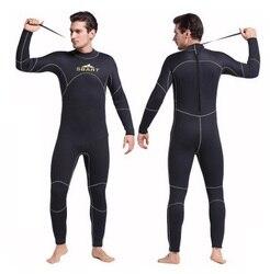 SBART 5 MM neoprenu sportowe Wetsuit mężczyźni z długim rękawem neoprenu Surf wysypka Guard nurkowanie Surfing utrzymać ciepłe nurkowanie z rurką pływanie tkaniny