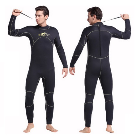 SBART 5MM Neoprene Sport Wetsuit Men Long Sleeve Neoprene Surf Rash Guard Diving Surfing Keep Warm Snorkeling Swimming Cloth sbart 3mm neoprene wetsuit men top long sleeve neoprene surf rash guard jacket for diving surfing swimming clothe keep warm n734