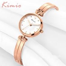 KIMIO Watches Women Fashion Watch 2016 Elegant Love Scale Lady Hand Ring Bracelet Quartz Rose Gold Woman Clock Wristwatch