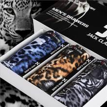 2017 Brand 3 Pieces Underwear Men's Modal Boxer Comfortable Men Cheap Boxer Shorts Wholesale Sleepwear Leopard lattice L-XXXL