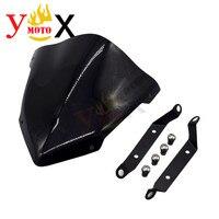 MT09 Motorcycle Windscreen Windshield Glass W/ Bracket Holder Screws Mounting For Yamaha MT 09 FZ 09 FZ09 2014 2016 2015