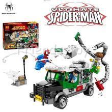 Spider Man Set Marvel Super Heroes Avengers DOC OCK TRUCK HEIS Car Building Blocks Toy Figure Lepin 76015