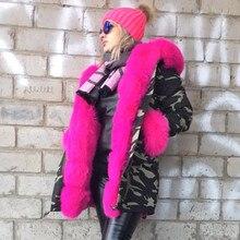 2016 Бренд Женщин Зимняя Куртка Пальто Толстые Теплые Меха лайнер женщины парки большой природный настоящее Фокс Меховым Воротником с капюшоном и лисий мех рукава(China (Mainland))