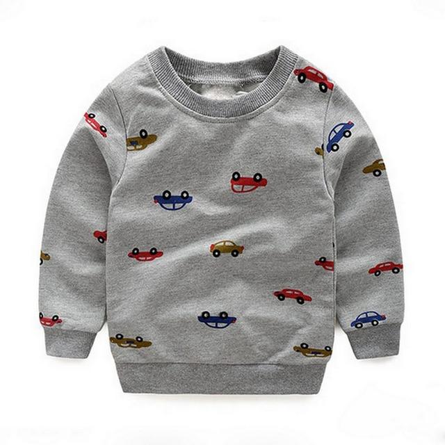 350ba4f955c1 Moleton Infantil Baby Boys Roupas Hoodies Car Printed Sweatshirt ...