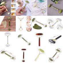 1PCS Natural Facial Face Lift Roller Beauty Massage Tool Jade Roller Face Thin S