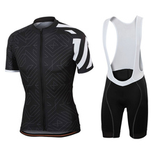 купить New 2019 Black Team pro cycling jersey 9D gel Pad bike shorts set men Ropa Ciclismo bicycling Maillot Culotte clothing CSO-15 онлайн