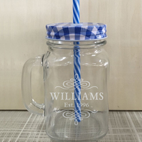 360g Wedding Party Mason Jars Custom Cool Mason Water Bottle Unique Glass Transparent Cold Drinking Ice