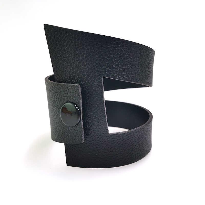 YD & YDBZ 2019 Nuovi Bracciali In Pelle di Design di Lusso di Stile Punk Nero Del Braccialetto 5 di Colore In Pelle Fatti A Mano Bracciali Gioelleria Raffinata E Alla Moda