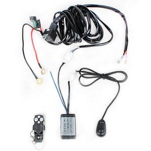 Image 3 - LED Light Bar Offroad Tube Hood Roof License Installation Bracket Remote Control Wire Harness 12V 24W Work Lights