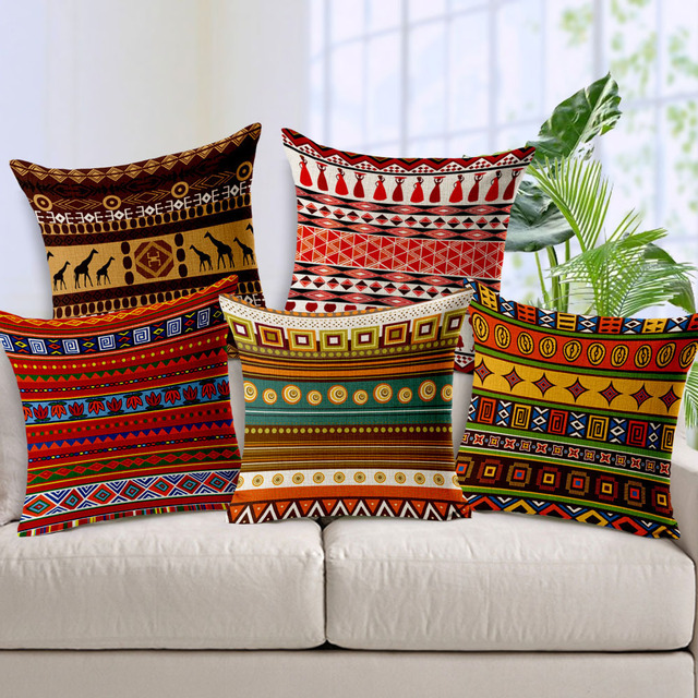 African National Stripe Bohemian Style Geometric Home Decorative Best Cheap Decorative Throw Pillows For Couch