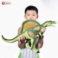 Juguete de dinosaurio wiben Jurásico gran espinosaurus modelo de Animal de plástico suave figuras de acción y Juguete para niños juguetes para niñas niños