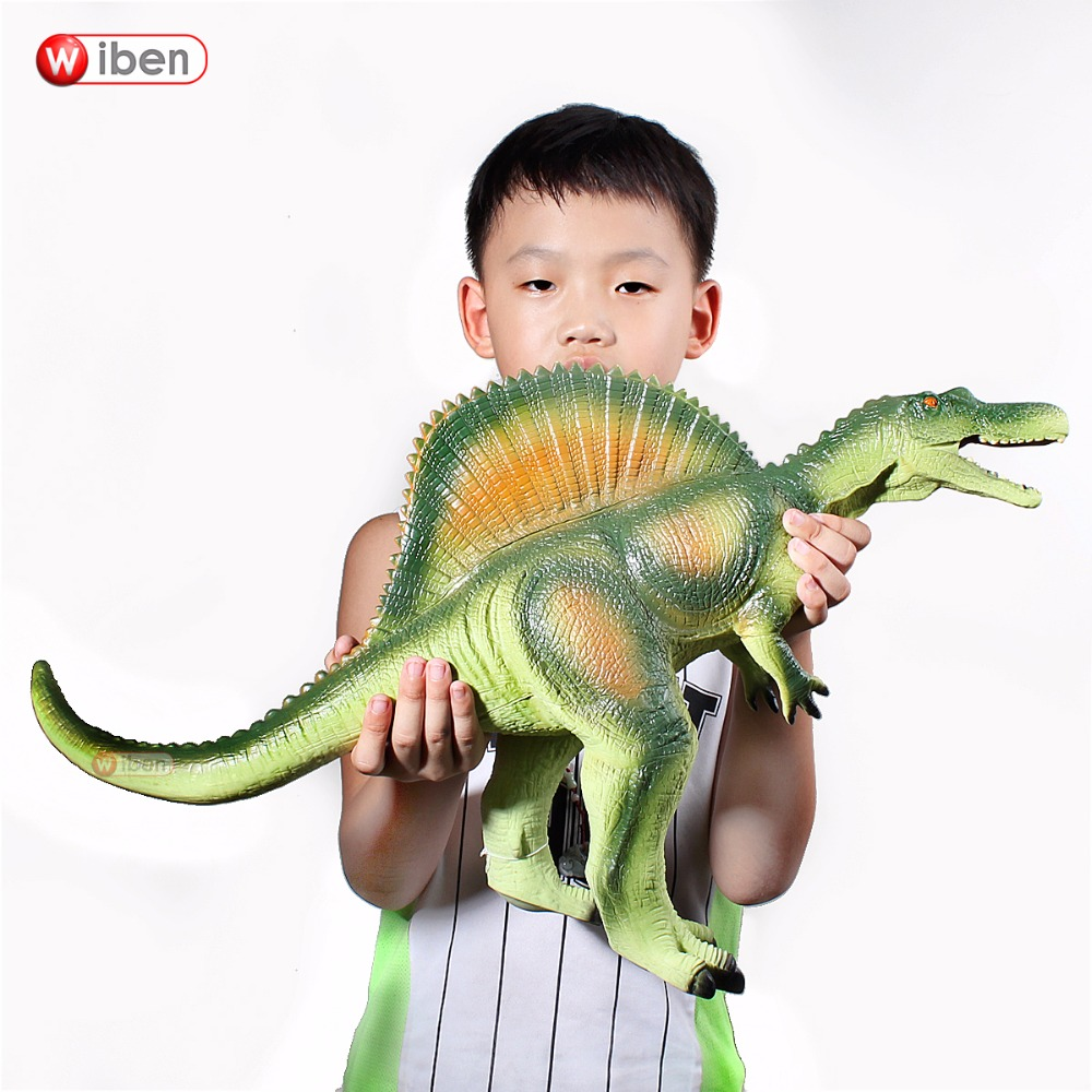 лучшая цена Jurassic Big Dinosaur Toy Spinosaurus Soft Plastic Animal Model Action & Toy Figures Kids Toys Gift