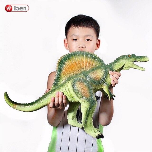 Wiben Jurassic ใหญ่ไดโนเสาร์ Spinosaurus ของเล่นพลาสติกสัตว์แอ็คชั่นและของเล่นตัวเลขเด็กของเล่นสำหรับเด็กผู้หญิงเด็กชาย