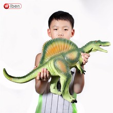 Wiben 쥬라기 큰 spinosaurus 공룡 장난감 부드러운 플라스틱 동물 모델 액션 & 장난감 피규어 아이들을위한 장난감 어린이 소년